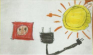 Dibujo elegido como logo del proyecto, realizado por uno de los alumnos del CEIP